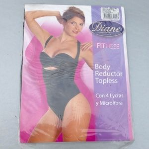 Black Shape Wear Tanga Body Shaper Size XL